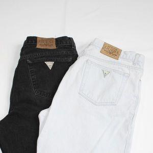Guess Jeans 80s Light Wash and Black Bundle 36x30
